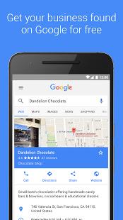 نرم افزار اندروید تجارت من - Google My Business