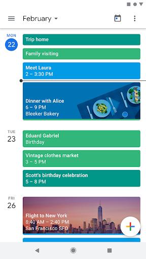 نرم افزار اندروید گوگل کلندر - Google Calendar