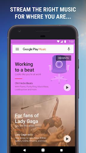 نرم افزار اندروید گوگل پلی موزیک - Google Play Music