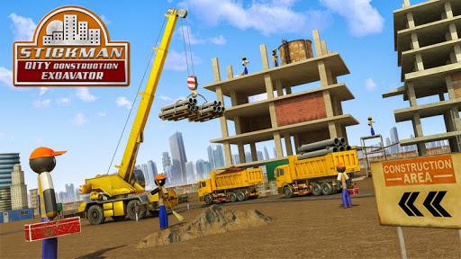 بازی اندروید ساخت شهر استیکمن - Stickman City Construction Excavator