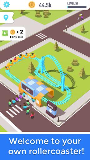 بازی اندروید پارک تفریحی - Idle Roller Coaster