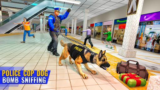 بازی اندروید سگ پلیس مرکز خرید آمریکا - US Police Dog Shopping Mall Crime Chase 2021