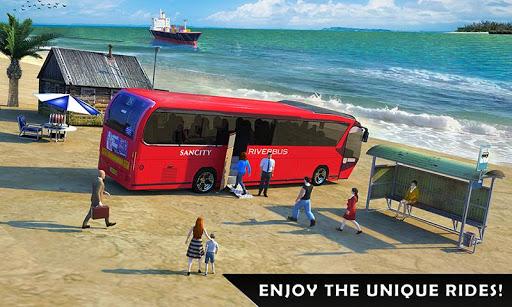 بازی اندروید شبیه ساز اتوبوس رودخانه - River Bus Driver Tourist Coach Bus Simulator