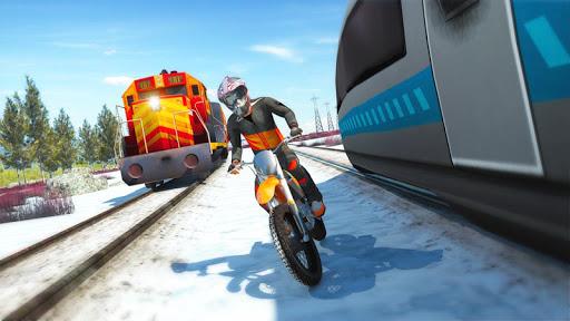 بازی اندروید موتور در مقابل قطار - Bike vs. Train