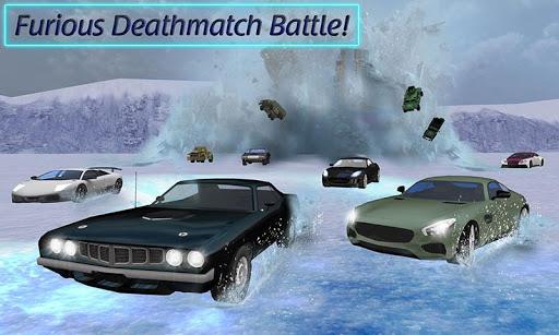 بازی اندروید ماشین خفاش - ماشین زرهی - Furious Death Car Snow Racing: Armored Cars Battle