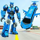 پرواز ماشین لیموزین ربات ترانسفورماتور - ربات پلیس
