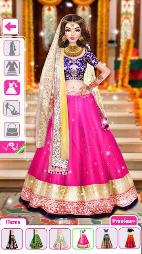 بازی اندروید سبک عروسی هندی - بازی های آرایش - Indian Wedding Stylist - Makeup &  Dress up Games