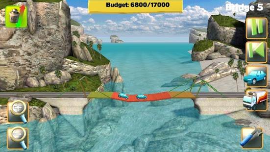 بازی اندروید سازنده پل - Bridge Constructor FREE