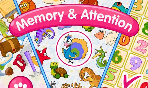 بازی اندروید آموزش حافظه کودکان - Memory & Attention Training for Kids