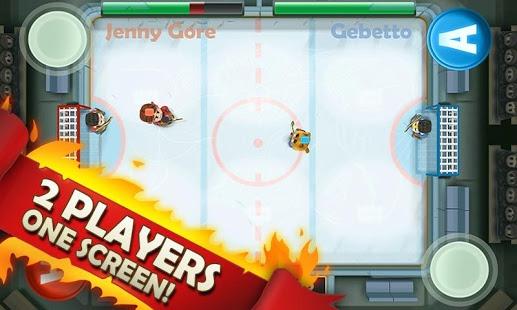 بازی اندروید هاکی روی یخ - Ice Rage: Hockey Free