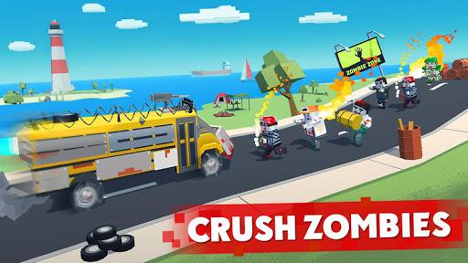 بازی اندروید مسابقه زامبی - بقا پیکسل - Zombie Derby: Pixel Survival