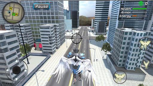 بازی اندروید جنایت فرشتگان سوپر قهرمان - مبارزه هوایی وگاس - Crime Angel Superhero - Vegas Air Strike