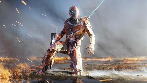 بازی اندروید جنگ با شمشیر قهرمان پرواز - Super Crime Steel War Hero Iron Flying Mech Robot