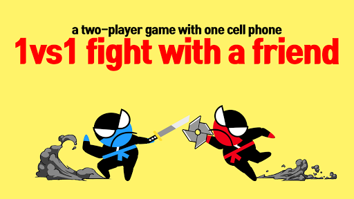 بازی اندروید پرش نبرد نینجا - دو بازی اکشن نبرد - Jumping Ninja Battle - Two Player battle Action