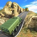 راننده کامیون ارتش در جاده