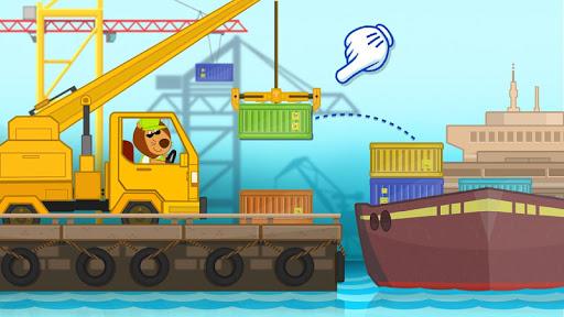 بازی اندروید ماشین های ساختمانی - Hippo builder. Building machines