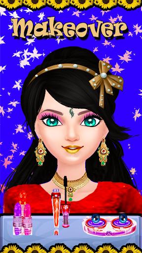 بازی اندروید سالن عروس هندی - Indian Girl Wedding Makeover Fashion Salon