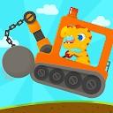 حفار دایناسور -بازی  شبیه ساز کامیون کودک