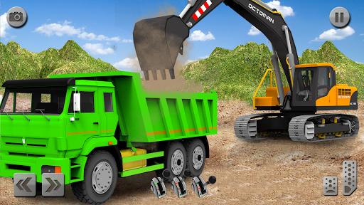 بازی اندروید شبیه ساز نجات کامیون شن و ماسه - Sand Excavator Truck Driving Rescue Simulator game