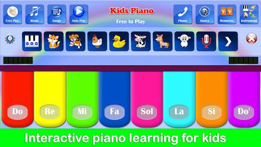 بازی اندروید پیانو رایگان کودکان - Kids Piano Free