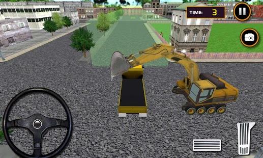 بازی اندروید لودر ساخت جاده شهر - City Road Construction Loader