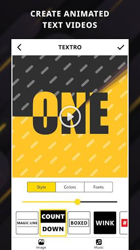 نرم افزار اندروید تکسترو - متن انیمیشنی - Textro: Animated Text Video