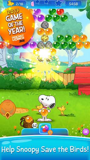 بازی اندروید انفجار حباب - Snoopy Pop - Free Match, Blast & Pop Bubble Game