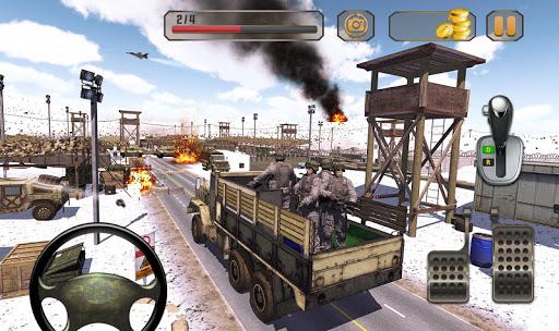 بازی اندروید رانندگی کامیون ارتش - کامیون واقعی ارتش - Us Army Truck Driving : Real Army Truck
