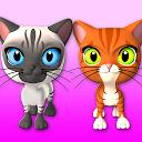 صحبت کردن با 3 گربه دست آموز