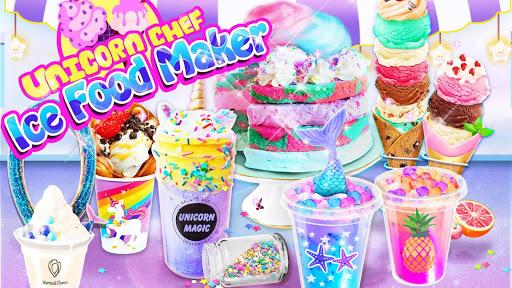 بازی اندروید آشپز تکشاخ - غذاهای یخ تابستانی - بازی های آشپزی - Unicorn Chef: Summer Ice Foods - Cooking Games
