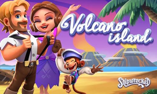 بازی اندروید جزیره آتشفشان - غرق - Shipwrecked: Volcano Island