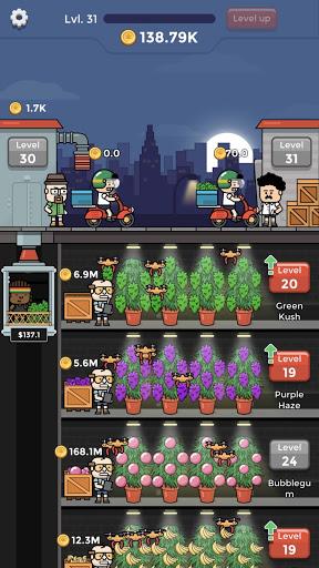 بازی اندروید علفهای هرز کارخانه - Weed Factory Idle
