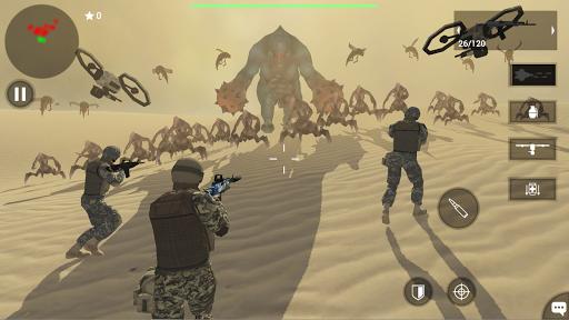 بازی اندروید حمایت جوخه خورشید - بازی تیراندازی - Earth Protect Squad: Third Person Shooting Game