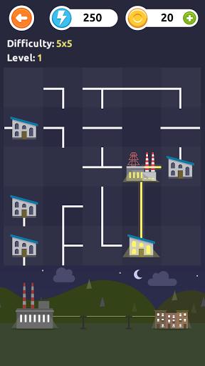 بازی اندروید خط قدرت - پازل منطق - Powerline - logic puzzles