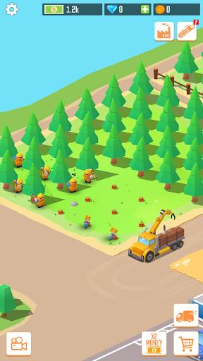بازی اندروید سرمایه دار بزرگ کارخانه الوار - Idle Lumber: Factory Tycoon