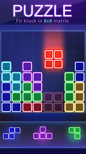 بازی اندروید درخشش بلوک پازل - Glow Block Puzzle