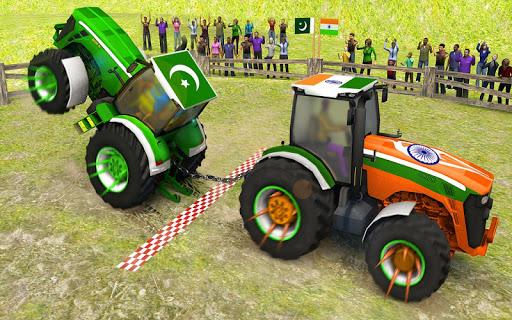 بازی اندروید کشیدن تراکتور - Pull Tractor Games: Tractor Driving Simulator 2019