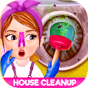 فعالیت تمیز کردن خانه کثیف دختران