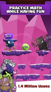 بازی اندروید ریاضی هیولا - Monster Math – Free Math Game