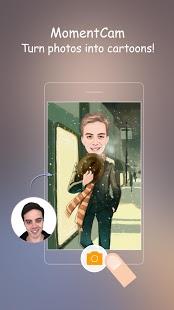 نرم افزار اندروید ایجاد تصویر کارتونی - دوربین لحظه - MomentCam Cartoons & Stickers