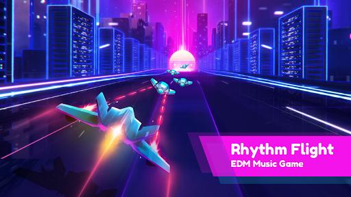 بازی اندروید گریز نواخت - بازی موزیک - Rhythm Flight: EDM Music Game