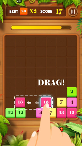 بازی اندروید کشیدن و ترکیب - بلاک پازل - Drag n Merge: Block Puzzle