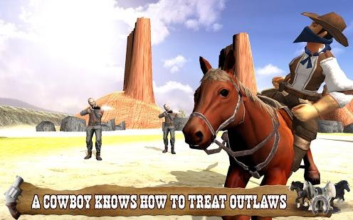بازی اندروید کابوی اسب سوار - Cowboy Horse Riding Simulation