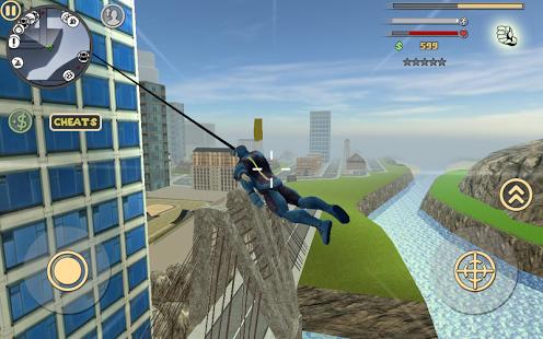 بازی اندروید قهرمان طناب - فساد شهر - Rope Hero: Vice Town