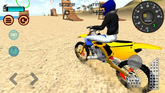 بازی اندروید پرش با موتور ساحلی - Motocross Beach Jumping 3D