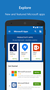نرم افزار اندروید برنامه مایکروسافت - Microsoft Apps