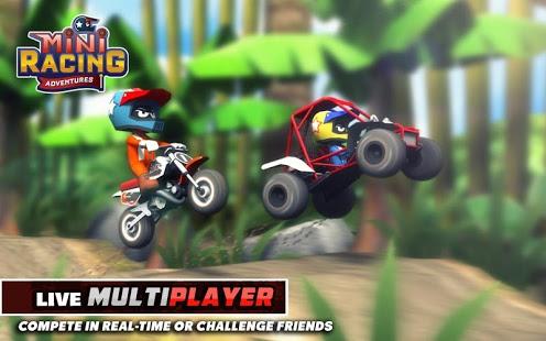 بازی اندروید هیجان مسابقه - Mini Racing Adventures