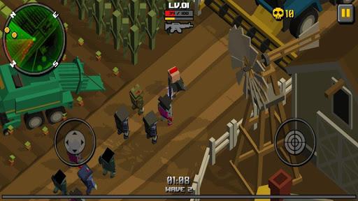 بازی اندروید شکارچی زامبی مکعبی - Cube Zombie Hunter