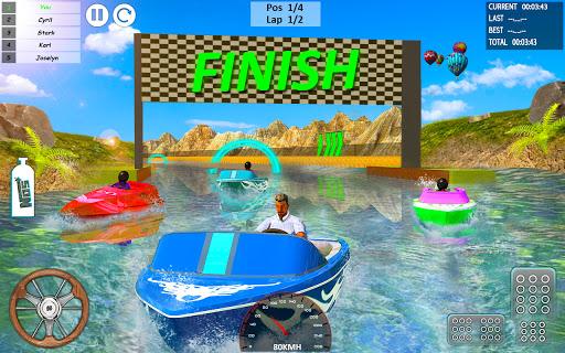 بازی اندروید مسابقه قایق موتوری - سرعت جت اسکی - Xtreme Boat Racing 2019: Speed Jet Ski Stunt Games