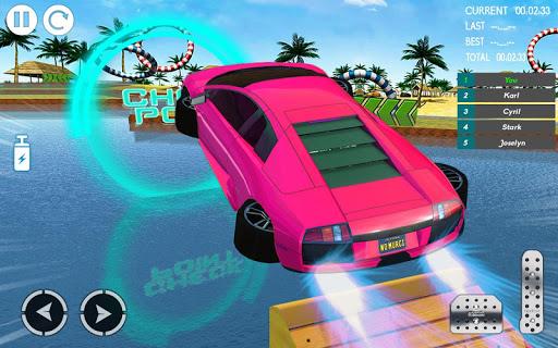 بازی اندروید مسابقه شیرین کاری اتومبیل آبی 2019 - بازی شیرین کاری ماشین - Water Car Stunt Racing 2019: 3D Cars Stunt Games